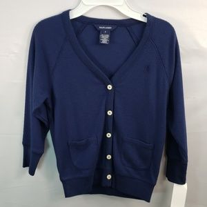 Ralph Lauren Polo Navy Button Down Cardigan Size 6
